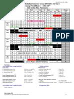Kalender Perkuliahan Semester Genap 2010-2011 Binus University