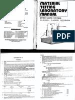 Material Testing - Laboratory Manual