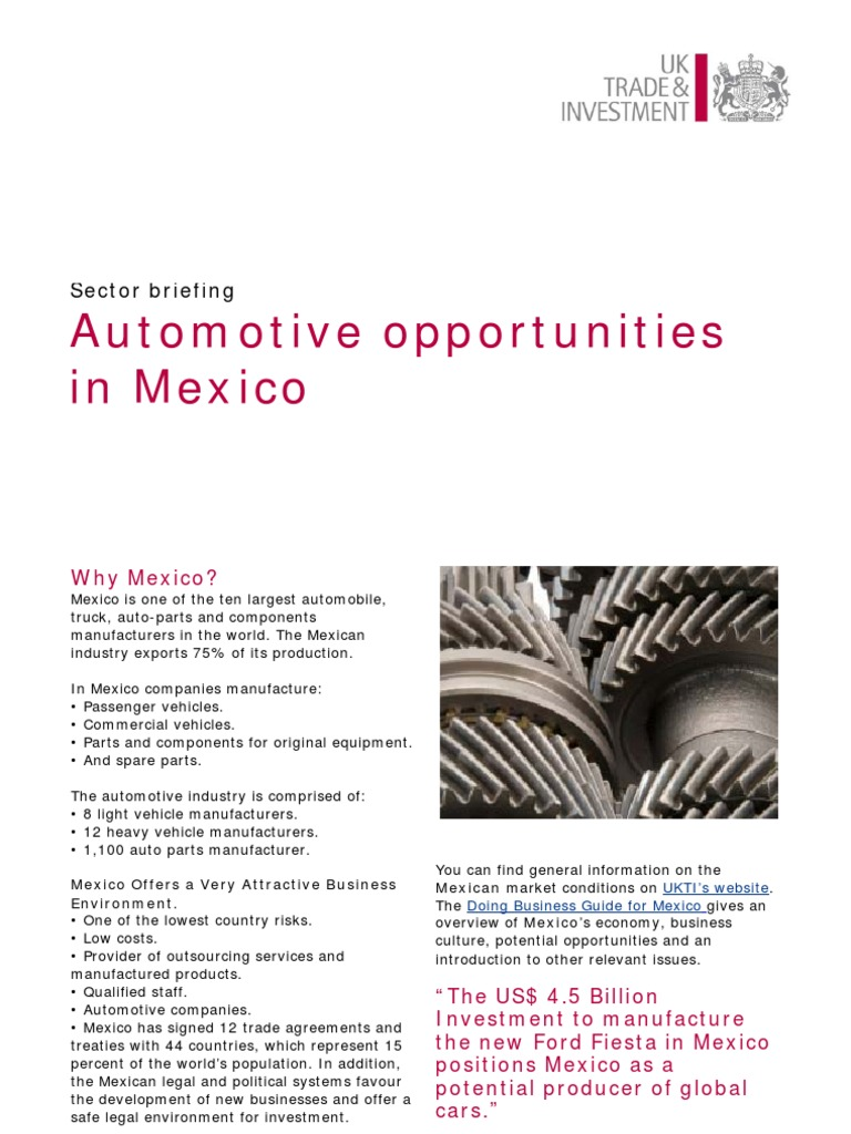 Automotive Opportunities in Mexico-1 | Automotive Industry | Mexico