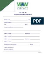 Win Within Baseball_Fall 2011_14U_Player Agreement