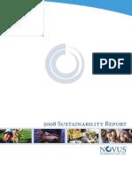 2008 Novus Sustainability Report