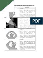 Señales manuales básicas de buceo