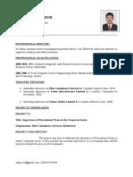 Sandeep's New Resume