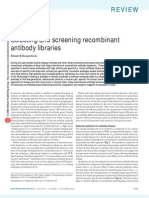 Selecting and Screening of ant Antibody Libraries