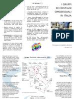Depliant informativo sui gruppi di credenti omosessuali italiuani (2010)
