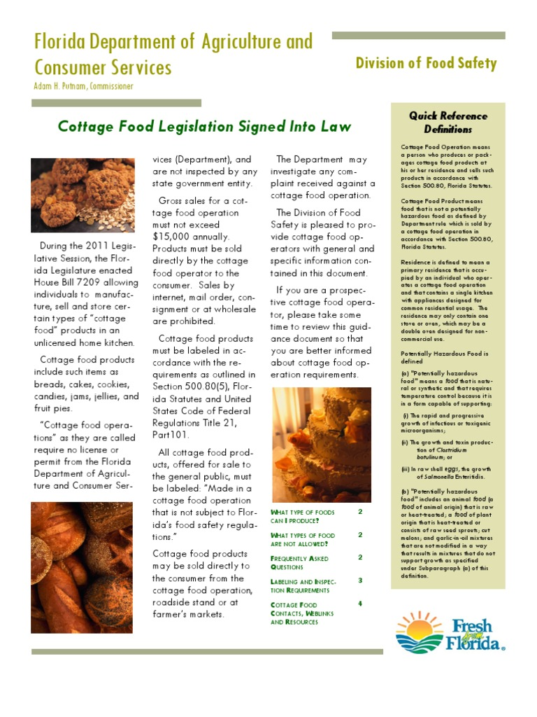 Cottage Food Advisory Food Safety Fruit Preserves