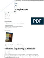 University of Glasgow __ Taught Degree Programmes a-Z __ Structural Engineering & Mechanics