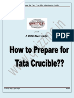 How to Prepare for Tata Crucible