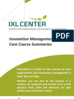 IXL Center - InnoMGMT Course Summaries