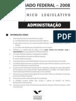 Senado08 Tecnico Legislativo Nm Administrador
