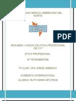 3. Codigo de Etica Profesional de Cp Resumen