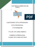 7. CUESTIONARIO ETICA PROFESIONAL