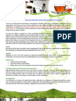 Flyer - Tea Industry - English