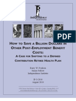 How to Save a Billion Dollars in Other Post-Employment Benefit Costs