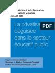 La privatisation déguisée dans le secteur éducatif public