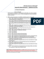 AIA Documents on Demand FAQ 2011