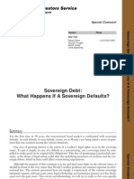 What Happens if a Sovereign Defaults