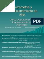 Psicrometría y Acondicionamiento de Aire
