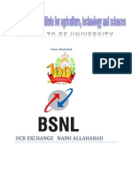 summer training report on bsnl -ocb naini exchange allahabad