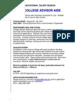 ETS Job Descriptions