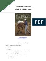 Equitation Ethologique Elisabeth de Corbigny Sommaire Tome1