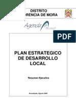 Plan Estrategico Distrito de Florencia de Mora Al 2015