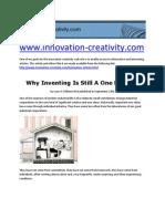 Why Inventing is Still a One Man Job by Lynn A.Williams