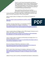 Analisis de Actividad Insurgnte Subversiva Terrorist A de Kirchner y La Relacion Con El Nuevo Orden Mundial.