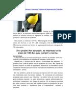 Projeto obriga Empresas a contratar Técnicos de Segurança do Trabalho