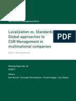 Localization vs. Standardization