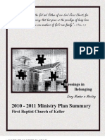2010 2011 Ministry Plan