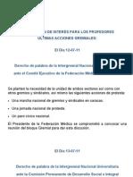 INFORMACIÓN DE INTERÉS PARA LOS PROFESORES