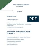 TEMARIO PARA EL EXAMEN ÚNICO DE COMPETENCIAS