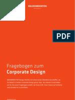"""Briefing Fragebogen """"Corporate Design"""" von der Hamburger Werbeagentur BRANDMEISTER DESIGN"""
