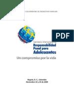 ICBF COLOMBIA 2009 Seminario Internacional Del Sistema de Responsabilidad Penal Para Adolescentes