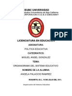 organigrama educativo