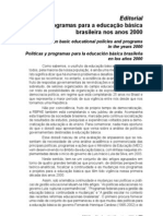 POLÍTICAS E PROGRAMAS PARA A EDUCAÇÃO BÁSICA