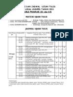 1 Materi Dan Jadwal Ujian Tulis Spmb Lokal 2011