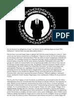Eine Botschaft von Anonymous an die Menschen der Welt