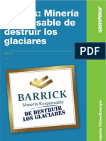 Barrick- Mineria Resp on Sable de Destruir Los Glaciares