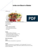 Salada Colorida Com Bacon e Batata Palha