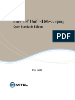 Inter Tel Unified Messaging Open Standards Editon User Guide