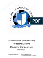 Marketing Management Study Guide 2010 V1