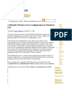 Disable Windows Zero