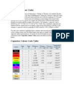 Capacitor Colour Codes