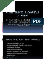APRESENTAÇÃO - PLANEJAMENTO E CONTROLE DE OBRAS