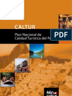 Plan de Calidad Turistica Del Peru
