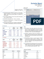 Derivative Report 21st July 2011
