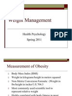 Health Psychology Obesity Exercise Spring11 Class
