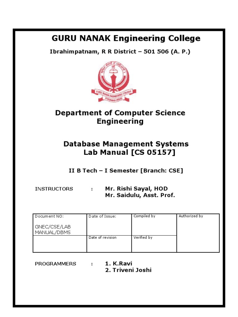 dbms lab 1 Dbms lab questions 1 1 1 create a table as employee and the details are sno name designation branch 1 ram manager chennai 2 santhosh supervisor madurai 3 hari assistant trichy perform the following: alter the table by adding a column salary alter the table by modifying the column name describe the table employee copy the table employee as emp truncate the table delete the second row from .